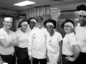 Mr. Stockman, center, with the Moody Air Force Base kitchen staff, Valdosta, GA
